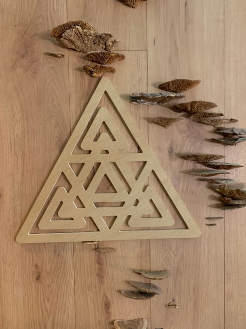 Art & Wall Decor by Plant the Future seen at The Assemblage NoMad, New York - Fungi, Wooden Triangle