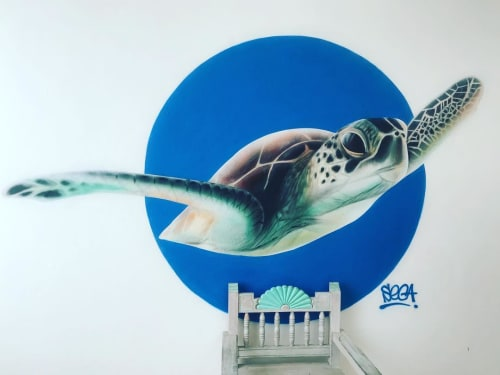 Murals by Seca One seen at Akumal Bay - Beach & Wellness Resort, Akumal - Tortoise