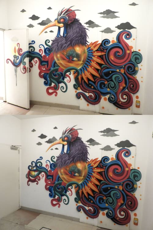 Murals by Q Zean seen at Private Residence - Art Factory Hostel