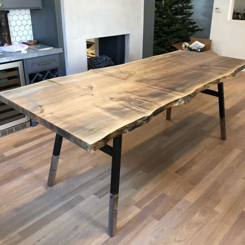 Tables by Hawk & Stone seen at Private Residence, Los Angeles - Live Edge Table