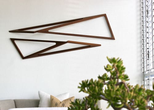 Sculptures by MJP Studio seen at Private Residence, Burleigh Heads - Scape Timber Wall Sculpture