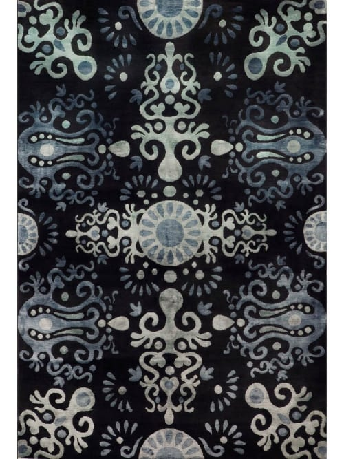 Rugs by Emma Gardner Design, LLC seen at Private Residence, New York - Palace Midnight Rug