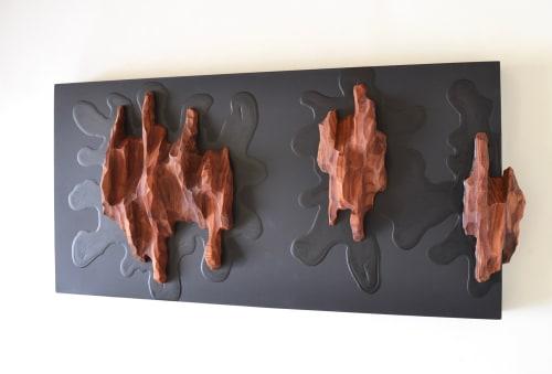 Three Splashes - Wall Art   Wall Hangings by Lutz Hornischer - Sculptures & Wood Art