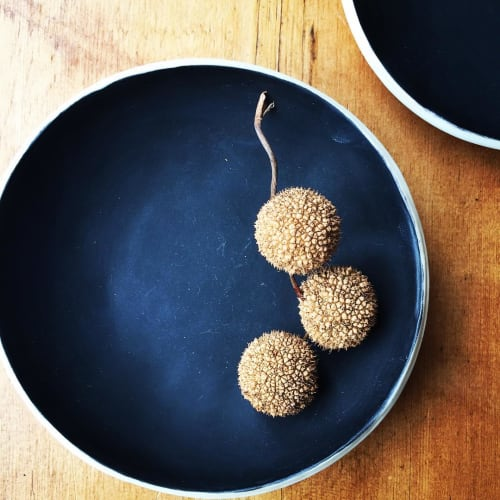 Tableware by Nicola Hart seen at Private Residence, Greenwich - Matte Black Stoneware bowl