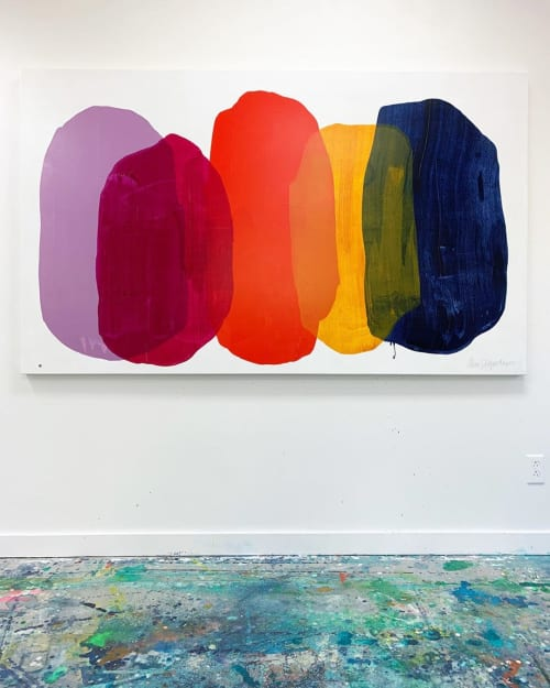 Paintings by Claire Desjardins seen at Private Residence, Seattle - Larger Than Life 01