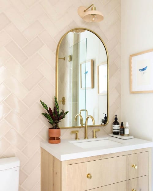 Tiles by Fireclay Tile seen at Private Residence, Napa - Birch Tile