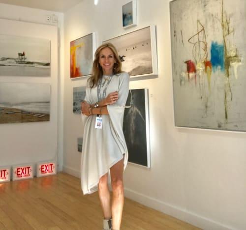 Interior Design by Amy Gordon Art seen at Aqua Hotel & Suites, Miami Beach - Art Miami Aqua showroom