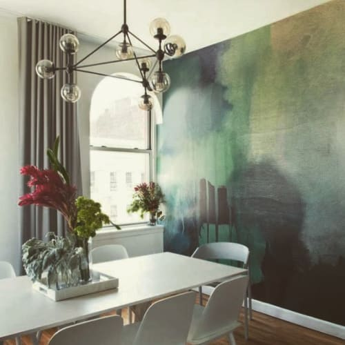 Wallpaper by Carol Batchelor seen at Private Residence, New York - Flow 07