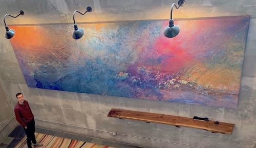 Paintings by Paul Seftel seen at Long Island City, Queens - Cosmic Symphony - a monumental painting