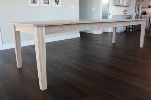 Solid White Oak Shaker Style Dining Table | Tables by Hazel Oak Farms