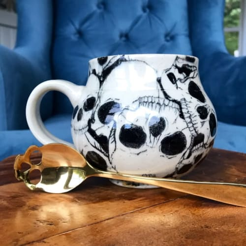 Tableware by Elan Pottery seen at Private Residence, Frederick - Skull Spoon