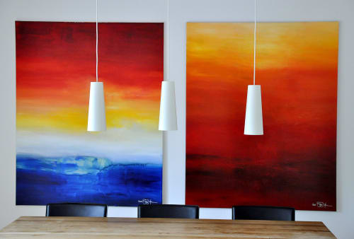 Paintings by CHRISTIAN BAHR seen at Private Residence, Solon - WHERE THE SUMMER NEVER ENDS
