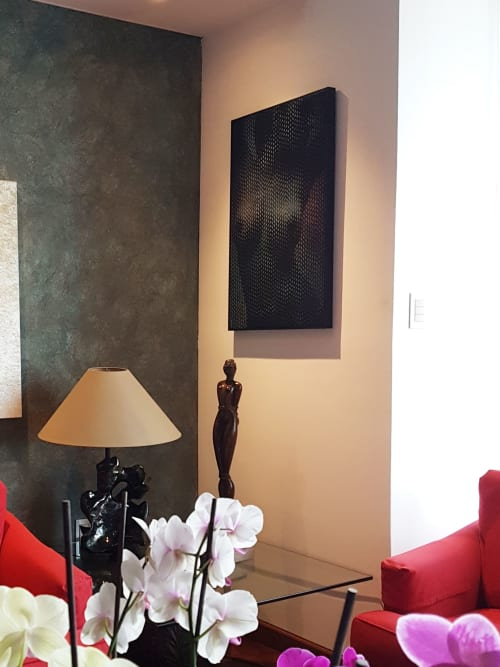 Paintings by Mod Cardenas seen at Private Residence - Original nude painting in private collection