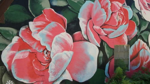 Murals by Mike Lroy seen at Private Residence, Racine - Flower Garden