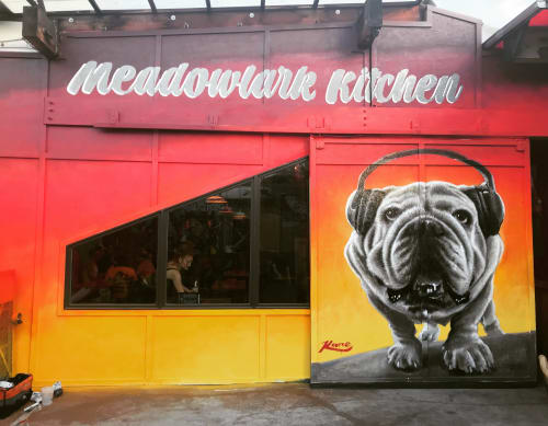 Street Murals by Patrick Kane McGregor at Meadowlark Kitchen, Denver - Beats Boug
