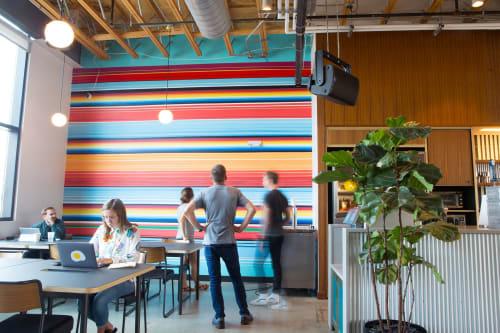 Murals by Nathan Brown seen at WeWork, Nashville - WeWork Nashville mural