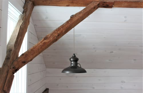 Pendants by Barn Light Electric seen at Private Residence, Manchester - Laramie Pendant Light