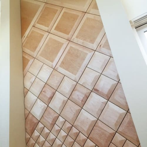 Wall Treatments by Trey Jones Studio seen at Private Residence, Seattle - Woodwal