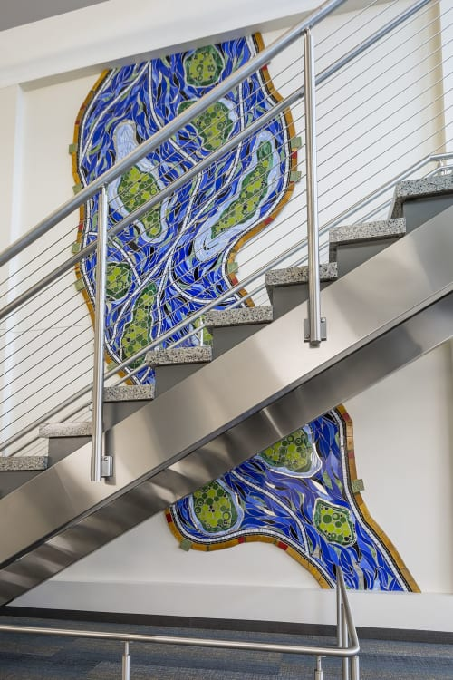 Murals by Stacia Goodman Mosaics seen at St. Cloud State University, St. Cloud - Mississippi River Renewal