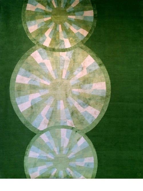 Rugs by Emma Gardner Design, LLC - HOOT (emerald green)