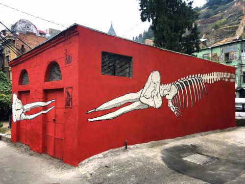 Street Murals by Kuba seen at Tbilisi, Tbilisi - Wale
