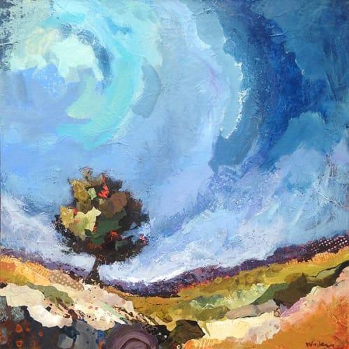 Paintings by Shelli Walters Studio seen at Creator's Studio, Bend - Owl Tree Painting