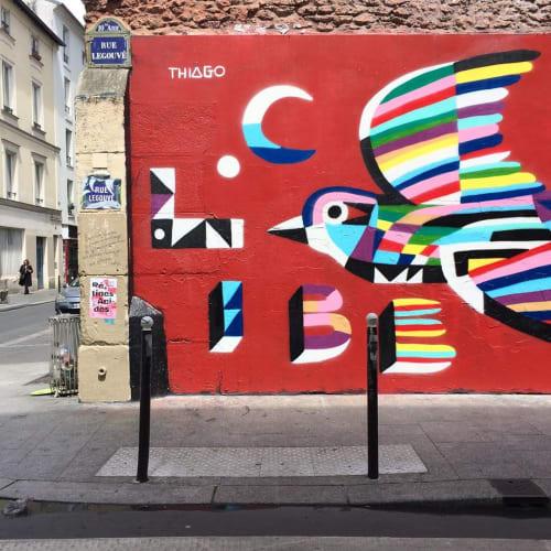 Street Murals by Thiago Thipan - Hirondelle de La Liberté