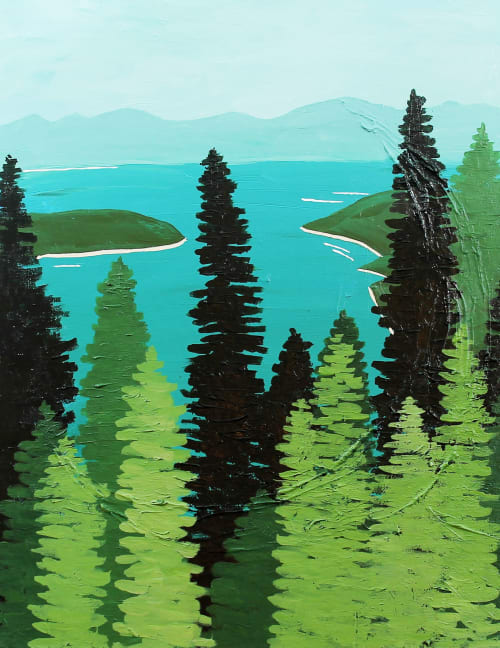 Paintings by Between the Evergreens - Lake Tahoe Acrylic on Canvas