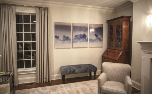 Paintings by Jd Dennison seen at Private Residence, Chicago - Storm Clouds Painting