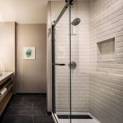 Tiles by Design and Direct Source seen at Kimpton Hotel Monaco Denver, Denver - Color Walls Beveled