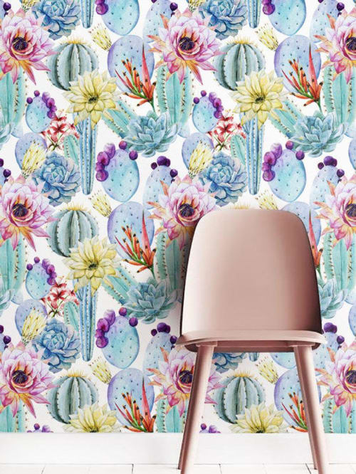 Wallpaper by Jumanjii seen at Selamat Designs, High Point - Cactus Wallpaper