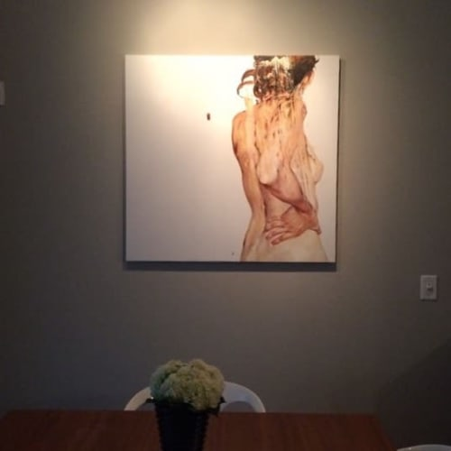 Paintings by Cesar Biojo seen at Private Residence, Barcelona - Estuche 5