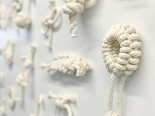 Sculptures by Windy Chien seen at Facebook HQ, Menlo Park - The Year of Knots