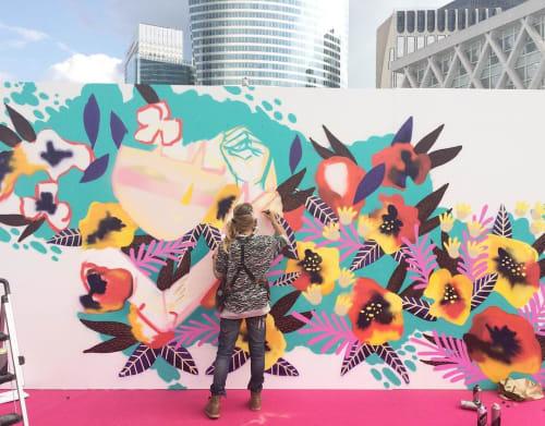Sunset Leaf | Street Murals by Julieta XLF