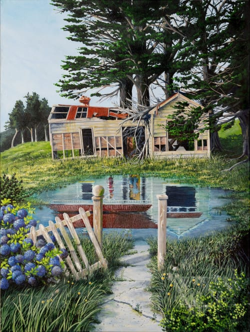 Paintings by Murray Clode (MAC) seen at Private Residence, Tauranga - Someone's Dream