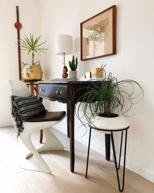 Plants & Flowers by Potted seen at Los Angeles, Los Angeles - Orbit Planter in private residence.