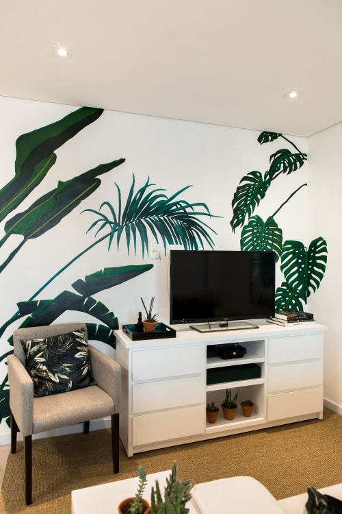 Murals by Laura Mazzela seen at Private Residence, Alphaville Empresarial - Tropical Mural
