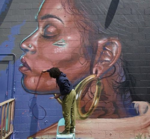 Murals by Timothy B, the Artist seen at Private Residence, Oakland - Kehlani Mural
