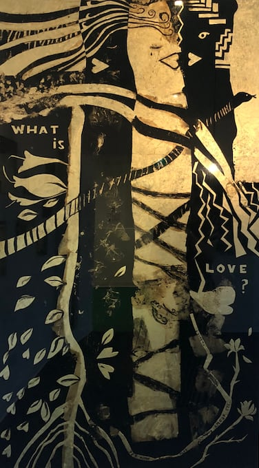 Paintings by Aurelia Bizouard seen at Private Residence, Vancouver - What is Love