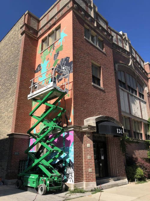Murals by David Heo seen at Missio Dei Chicago - Wrigleyville, Chicago - #paradiseunlost