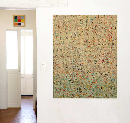Paintings by Vincent Lemaitre seen at Private Residence, Paris - Painting and collage