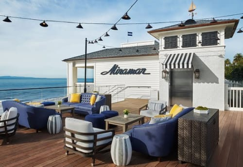 Couches & Sofas by Coco Wolf seen at Rosewood Miramar Beach, Montecito - Rosewood Miramar Outdoor Terrace