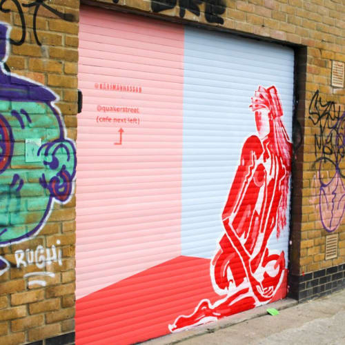 Murals by Karimah Hassan seen at Quaker Street Coffee & Bubble Tea, London - Wall Mural