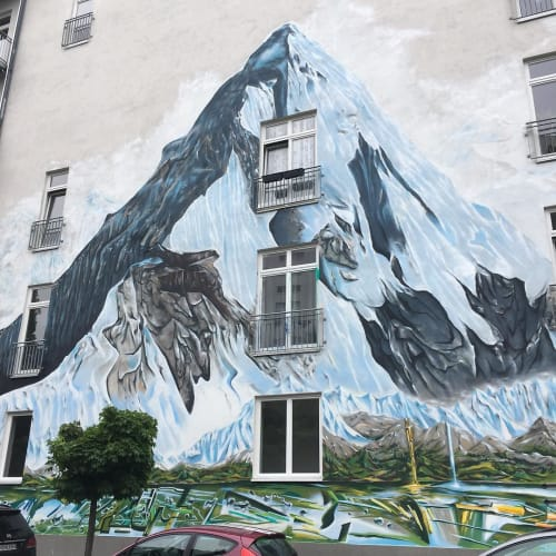 Murals by Jadore seen at Berlin, Berlin - Ama Dablam Mural