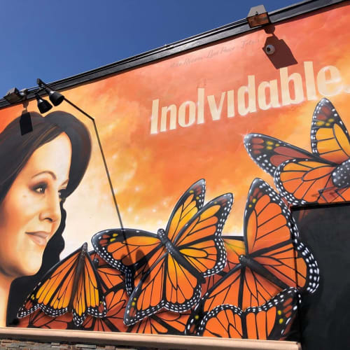 Street Murals by Levi Ponce seen at 5459 Atlantic Ave, Long Beach - Jenni Rivera