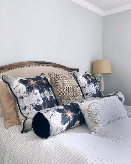 Linens & Bedding by Amanda M Moody seen at Private Residence, Weddington - smoke and mirrors textiles by the yard