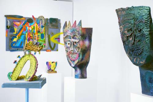 Sculptures by Luke Armitstead Studio seen at Seattle, WA, Seattle - Flat faced head #2
