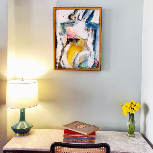 Paintings by Gee Gee Collins seen at Private Residence, New York - The White Room
