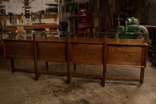 Tables by Kenton Jeske Woodworker seen at Louis Vuitton Edmonton, Edmonton - Sideboard & Tables for Louis Vuitton