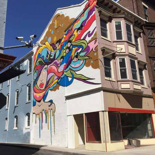 Street Murals by Aron Rook seen at Harrisburg Midtown Arts Center, Harrisburg - Girl Mural